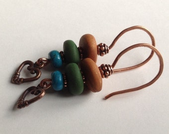 Handmade polymer clay eclectic earrings