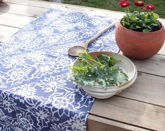 denim blue floursack tea towel