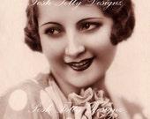 1920s Art Deco Flapper Lady Vintage Postcard Digital Download Printable Image (PC41)
