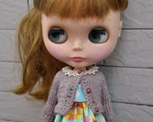 Cute cardigan for Dolls-Mocha