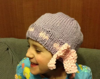 Bow Hat, baby, toddler, child and adult sizes