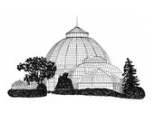 Anna Scripps Whitcomb Conservatory, Belle Isle, Detroit Giclee Print 8x10