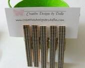 CLOTHESPINS / Decorative Wood Black Gingham /  Set of 5 / Magnet Option / Kitchen Office Decor / Party Favors