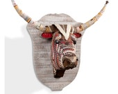 Great Plains (Longhorn) Faux Taxidermy Metal Wall Sculpture
