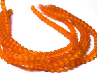 Saffron II- recycled sea glass beads