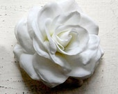 Wedding Hair Flower, Gardenia Hair Piece,  Retro Hair Flower, Bridal Hair Piece, Flower Hair Clip - Beautiful Gardenia