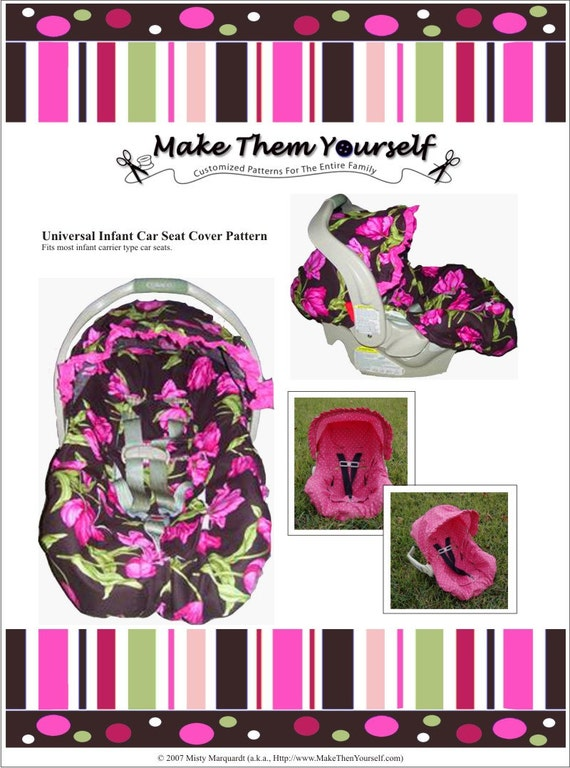 E-Version of the Universal Infant Car Seat Cover Pattern