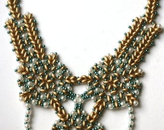 Helena Beaded Necklace Pattern Using Twin Beads