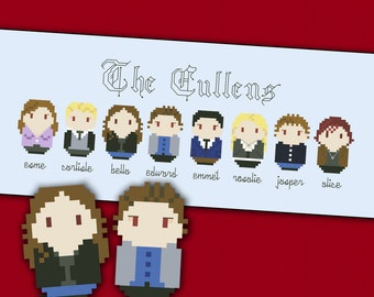 Twilight - The Cullens parody - Cross stitch PDF pattern