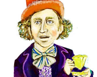 Ode to an Mr. Wonka ... Charlie and the Chocolate Factory inspired ... limited edition print