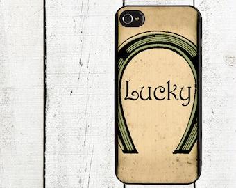 Vintage Lucky Horseshoe Phone Case St. Patrick's Dayfor iPhone 4 4s 5 5s 5c SE 6 6s 7  6 6s 7 Plus Galaxy s4 s5 s6 s7 Edge