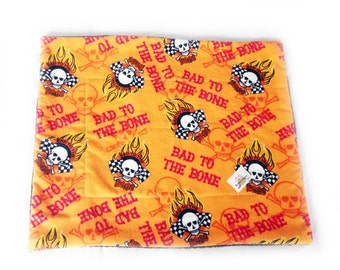 SALE - Woof Dog Blanket - Extra Small - Bad to the bone - One of a Kind