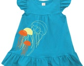 Gifts for toddler girls Jellyfish Baby Toddler Organic Dress- Direct Checkout