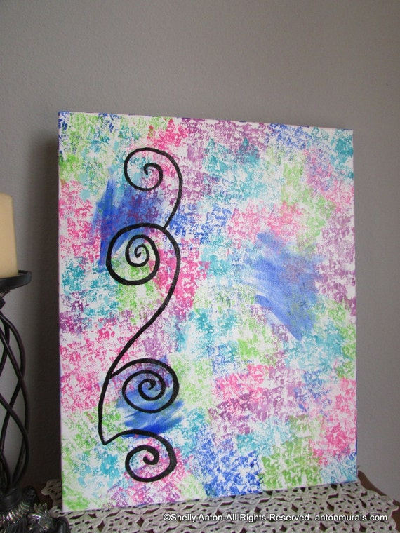 Items Similar To Abstract Canvas Art Acrylic Painting