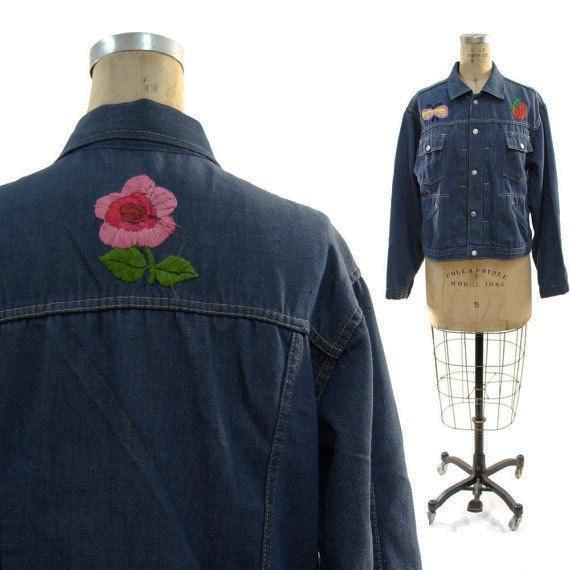 SALE 1970's Embroidered Denim Jacket