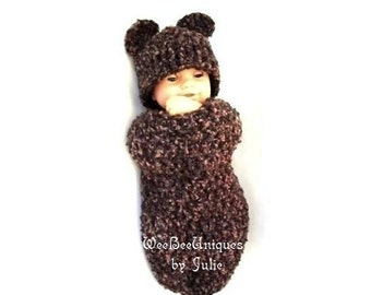 crochet pattern digital download teddy bear cocoon