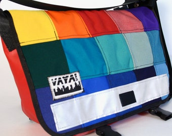 Colorful Petite Patchwork Messenger Bag