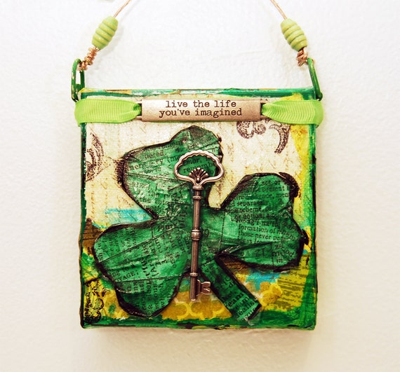 Shamrock irish art celtic art st patricks day home by for Irish home decorations