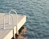 Fine Art Photograph, Lake Photo, Dock, Swim, Ladder, Water, Ripples, Reflection, Lake Living, Vacation Home, Summer, Aqua, Tranquil, Print