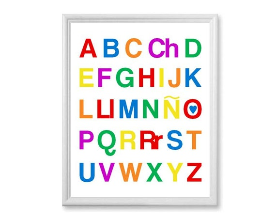 Items Similar To Alfabeto En Español, Abecedario