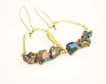 Bird Cage Pyrite Earrings