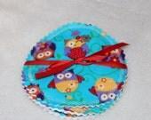New Pattern Nursing Breastfeeding Pads Turquoise Owls 1 Pair