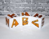 Rockin' Blocks Funky Tribal ABC Blocks Alphabet Blocks Baby Blocks
