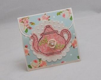 Tea Bag Favor - Shabby Chic - Set of 6