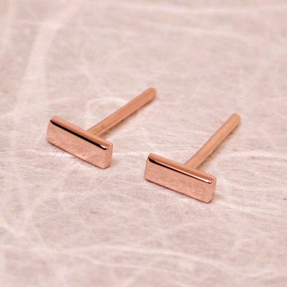 14k Rose Gold Stud Earrings Rose Gold Stud Earrings