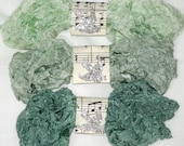 Crinkled Seam Binding - 18 YARDS - Greens - Icy Green - Sage Greens -  Going green - Shabby Ribbon