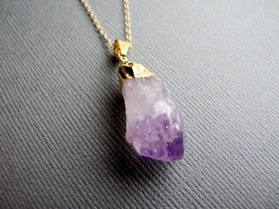 amethyst stone necklace - photo #19