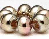 Handmade Lampwork Beads Gold Metallic Spacer Set SRA