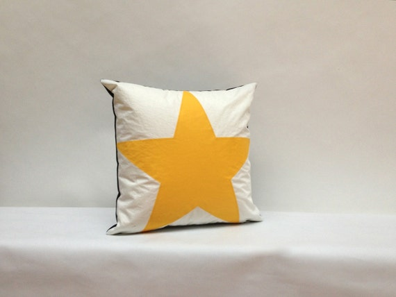 Recycle Or Throw Away Pillows : Recycled Sail Throw Pillows Yellow Star