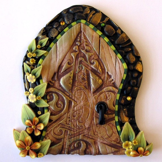 Celtic fairy door kids home decor wall art for Celtic decorations home