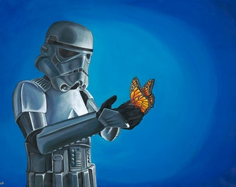 DIGITAL FILE - Stormtrooper with Butterfly Large Size for Download
