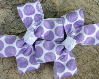 Pair of Purple Polka Dot Clippies