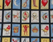 RARE Black Loteria Card OOP Fabric - 1 1/4 yard, plus FQ