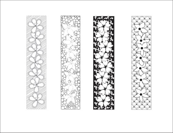 Items Similar To DIY Love Lines Floral Bookmarks