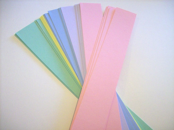 """50 pastel card stock belly band, soap bands, product bands 1 1/2 x 11 """""""