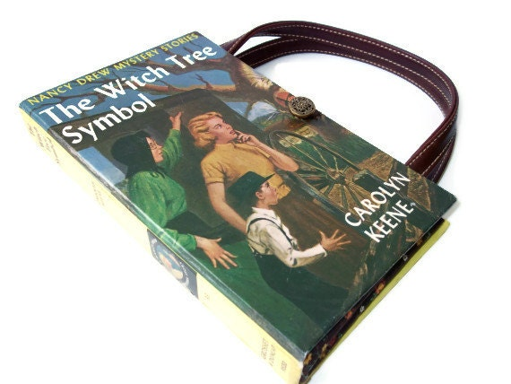 Book Purse Nancy Drew The Witch Tree Symbol Book Handbag Upcycled Book Bag Vintage Book Purse