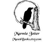Raven in the Moonlight custom rubber stamp crow bird