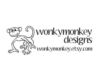 Cute monkey custom rubber stamp