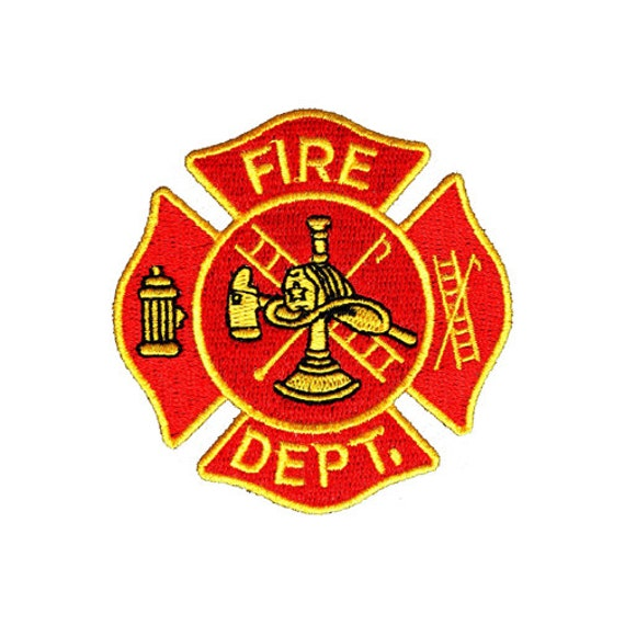 Fire Dept Iron On Patch Fire Department Fireman Great For