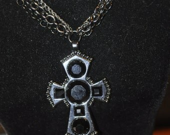 MultiChain Necklace with Cross Pendant