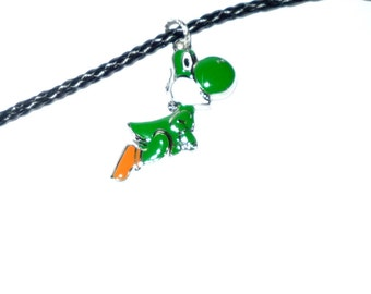 Yoshi Mario Necklace Super Mario Gamer Nintendo Super Nintendo  Novelty  Guy Gift  Nerd Geek    READY TO SHIP