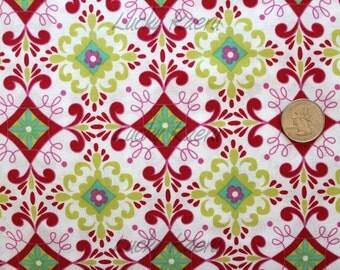 SALE/CLEARANCE Dena Designs, Love & Joy, Floral White Fabric - Half Yard