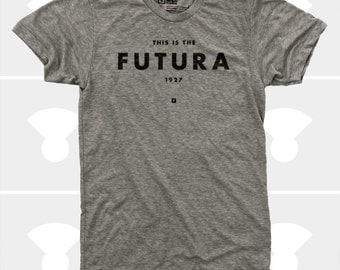 Men's T-Shirt Futura (Men) Typography T-Shirt, S,M,L,Xl,Xxl, American Apparel, Typography Shirt for Men (4 Colors)