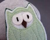 Handmade Felt Owl Brooch