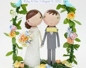custom wedding cake topper - with arch