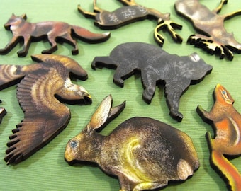 Woodland Animals and Creatures - Collection of 8 Wood Cut Out Pieces